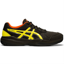 Asics Gel Game 7 GS Junior Tennis Shoes Black Sour Yuzu