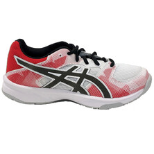 Asics Gel Tactic GS Junior Indoor Shoe White Gunmetal