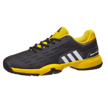 Adidas Barricade XJ Junior Tennis Shoes Black Yellow