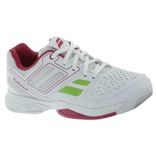Babolat Girl's Pulsion 4 BPM Junior Tennis Shoes White Pink