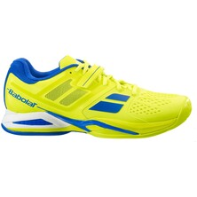 Babolat Boys Propulse 5 All Court Junior Tennis Shoes Yellow Blue