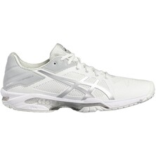 Asics Gel Solution Speed 3 Men's Tennis Shoes White Silver
