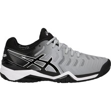 Asics Gel Resolution 7 Men's Tennis Shoes Mid Grey Black White