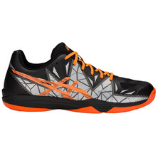 Asics Gel Fastball 3 Indoor Court Shoes Black Shocking Orange