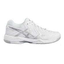 Asics Gel Game 6 Men's Tennis Shoes White Silver
