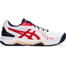 Asics Gel Challenger 12 Men's Tennis Shoes White Classic Red