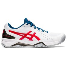 Asics Gel Challenger 12 Men's Tennis Shoes White Classic Red 2021