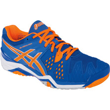 Asics Gel Resolution 6 Men's Tennis Shoes Blue Flash Orange Silver