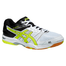 Asics Gel Rocket 7 Men's Shoes - White/Flash Yellow/Black