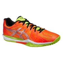 Asics Gel Fireblast 2 Indoor Men's Shoes - Hot Orange/Silver/Flash Yellow