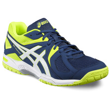 Asics Gel Hunter Men's Indoor Shoes Poseidon/White/Safety Yellow