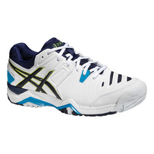Asics Gel Challenger 10 Men's Tennis Shoes - White Lime Indigo Blue
