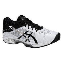 Asics Gel Solution Speed 3 Men's Tennis Shoes White Black Silver