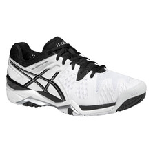 Asics Gel Resolution 6 Men's Tennis Shoes White Black Silver