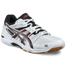 Asics Gel Rocket 7 Men's Shoes - White/Black/Vermilion Red