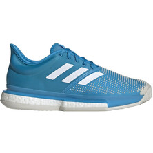 Adidas Men's SoleCourt Clay Tennis Shoe Cyan White