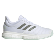 Adidas Solecourt Boost Men's Tennis Shoes White Legacy Green