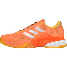 Adidas Mens Barricade Boost 2017 Tennis Shoes Glow Orange