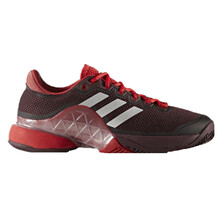 Adidas Mens Barricade Tennis Shoes Burgundy Silver