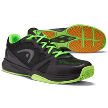 Head Revolt Indoor Court Shoes Black Green