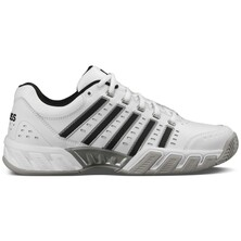 K-Swiss Mens BigShot Light LTR All-Court Shoes - White/Black/Silver