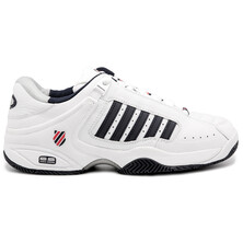 K-Swiss Defier RS Men's Tennis Shoes White Dress Blue Fiery Red