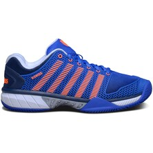 K-Swiss Mens Hypercourt Express Tennis Shoes - Blue/Orange