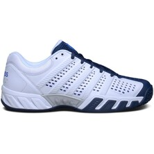 K-Swiss Mens BigShot Light 2.5 Carpet Tennis Shoes - White/Blue