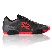 Salming Hawk Mens Indoor Shoes - Gun Metal Red 2019