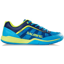 Salming Adder Men's Indoor Shoes - Cyan Saftey Yellow