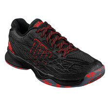 Wilson Kaos Men's Tennis Shoes - Black/Black/Red
