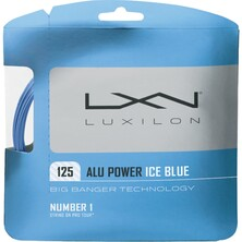 Luxilon ALU Power 125 LE Ice Blue 1.25mm Tennis String Set