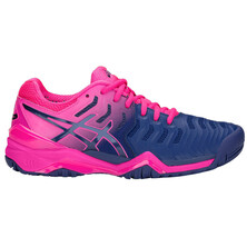 Asics Gel Resolution 7 Women's Tennis Shoes Blue Print