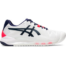 Asics Gel Resolution 8 Women's Tennis Shoes White Peacoat