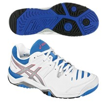 Asics Gel Challenger 10 Womens Tennis Shoes - White Silver Powder Blue
