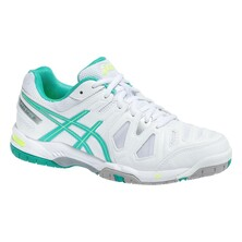 Asics Gel Game 5 OC Womens Tennis Shoes White/Mint
