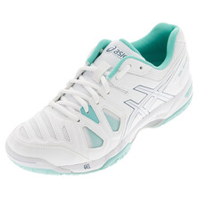 Asics Gel Game 5 Womens Tennis Shoes White/Blue Mirage