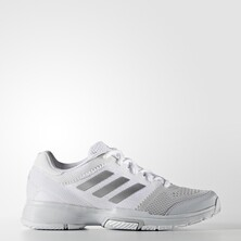 Adidas Barricade Club Women's Tennis Shoes White Silver