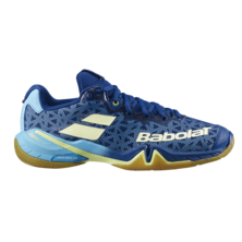 Babolat Shadow Tour Women's Indoor Shoes Estate Blue Canary Yellow 2020