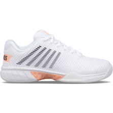 K-Swiss Women's Hypercourt Express 2 Tennis Shoes White Peach