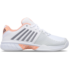 K-Swiss Women's Express Light 2 HB Tennis Shoe White Peach Nectar