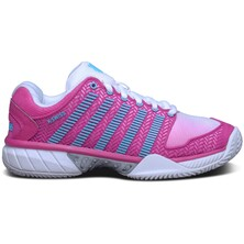 K-Swiss Womens Hypercourt Express Tennis Shoes - White/Pink