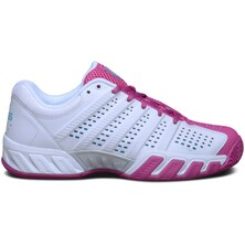 K-Swiss Women's BigShot Light 2.5 Tennis Shoes - White/Pink