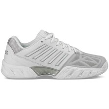 K-Swiss Women's BigShot Light 3 Carpet Tennis Shoes - White Silver