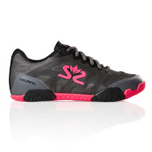 Salming Hawk Womens Indoor Shoes - Gun Metal Pink 2019