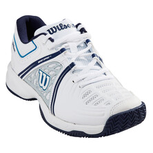 Wilson Tour Vision V Women's Tennis Shoes White Pearl Blue