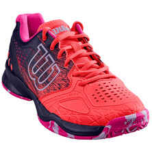 Wilson Kaos Comp Women's Tennis Shoes Fiery Coral Blue Pink