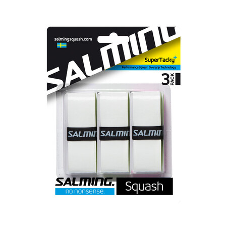 Salming SuperTacky Squash OverGrip 3 Pack White