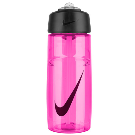 Nike T1 Flow Graphic Water Bottle 16oz Pink Blast Noble Red