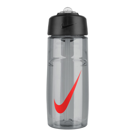 Nike T1 Flow Graphic Water Bottle 16oz Wolf Grey Bright Crimson